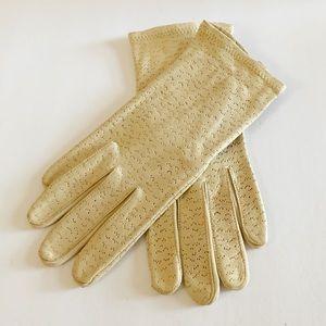Vtg FOWNES Lastic Leather Deerskin Gloves Size 8